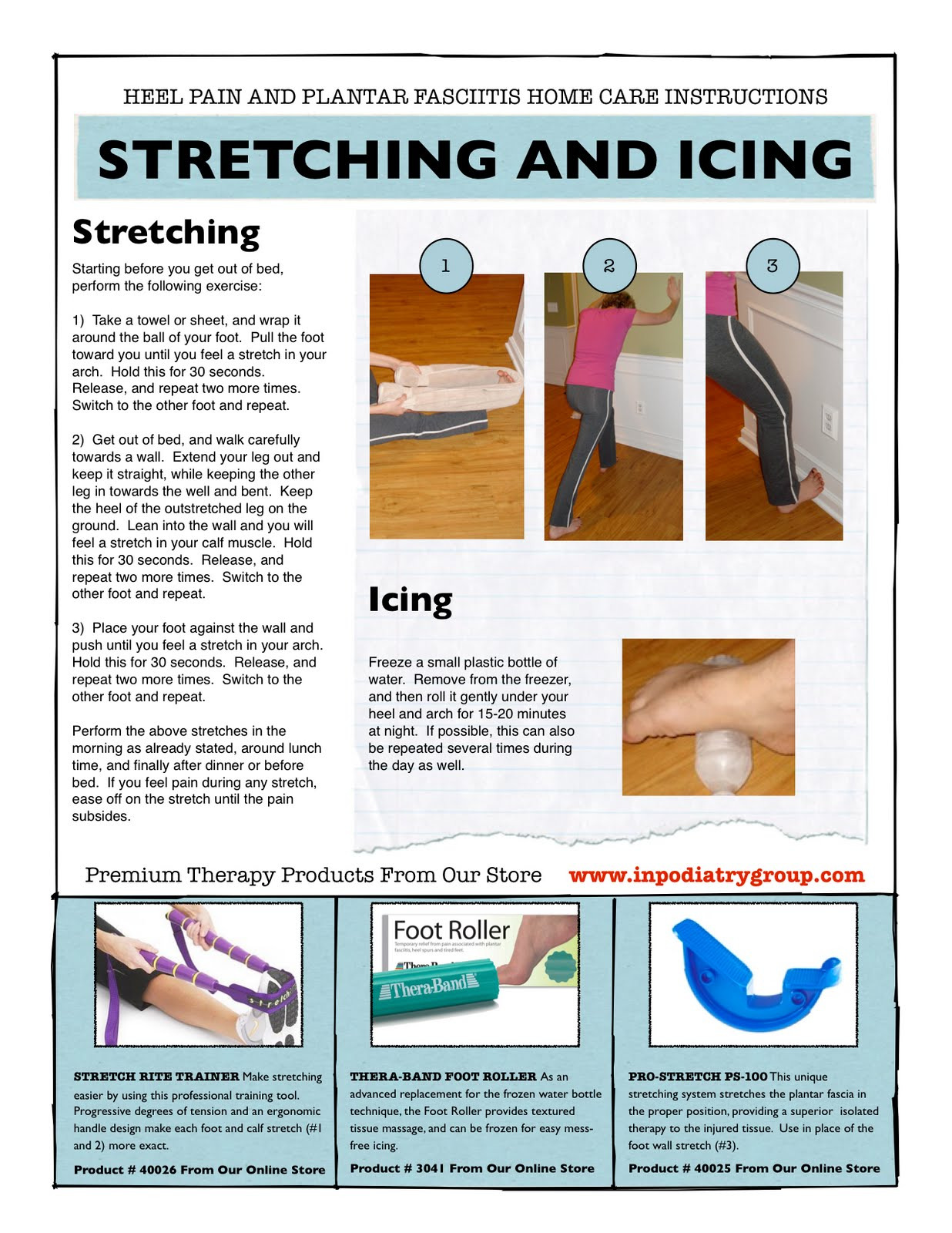 plantar fasciitis strengthening exercises pdf