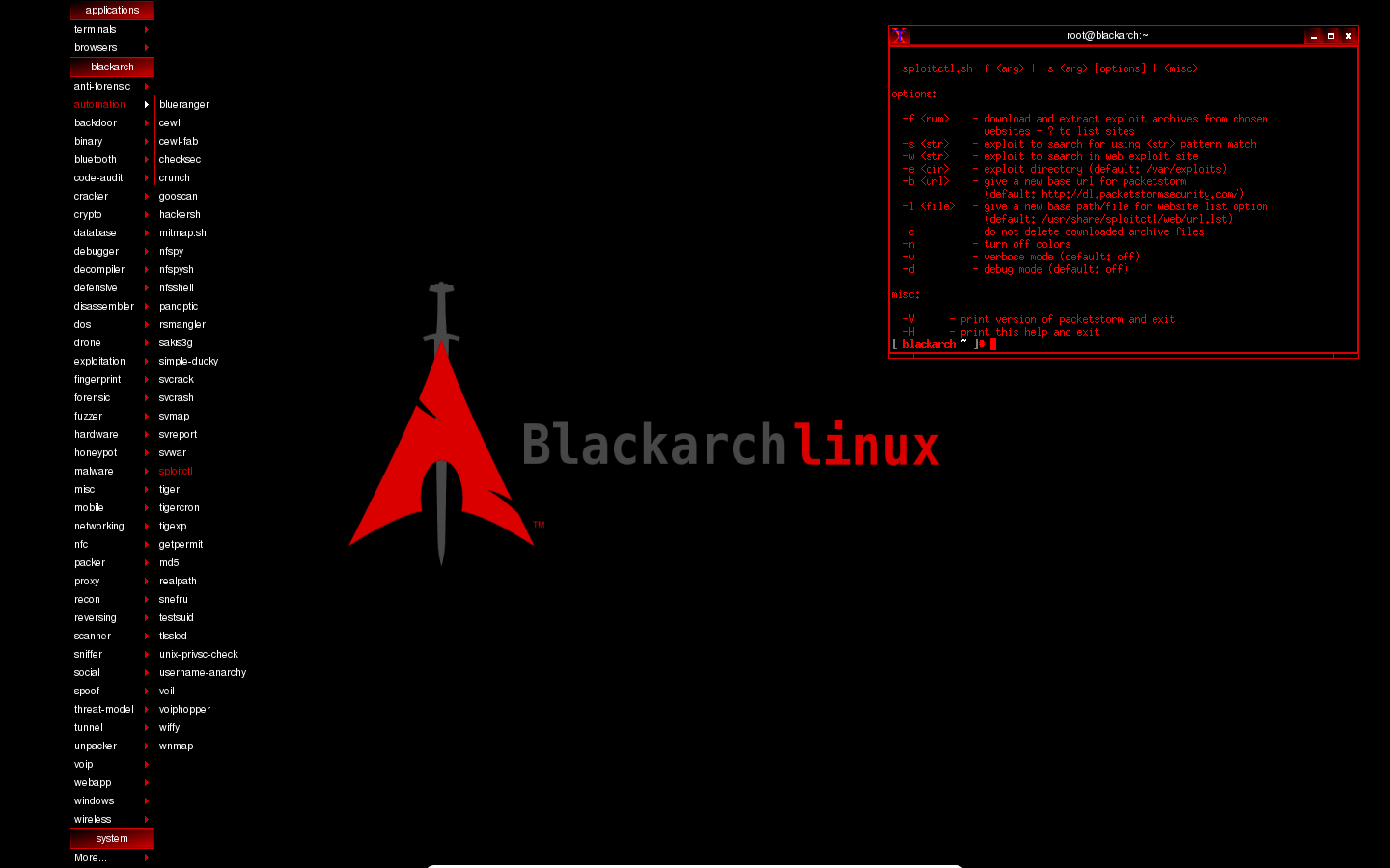 BlackArch .. a Linux distribution of security and penetration with more than 1,000 tool