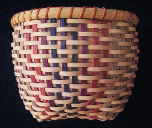 Basket Weaving Dyed Reed : Baskets swirling star basket