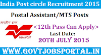India Post Circle Recruitment 2015