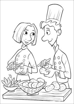 master chef coloring pages - photo#41