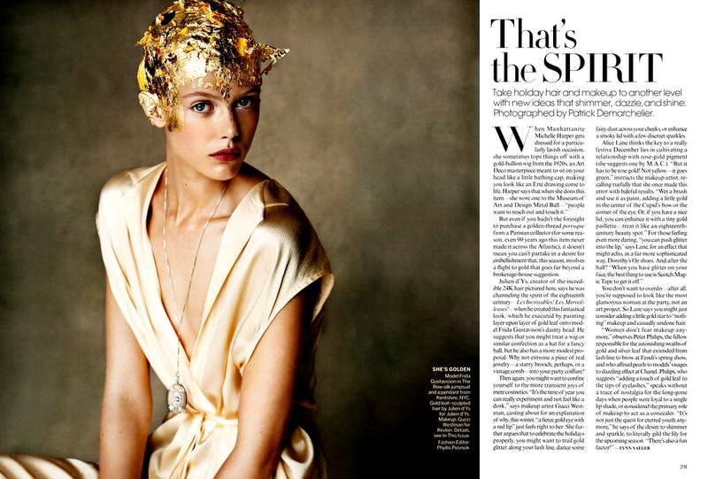 Frida Gustavsson In Vogue Us December