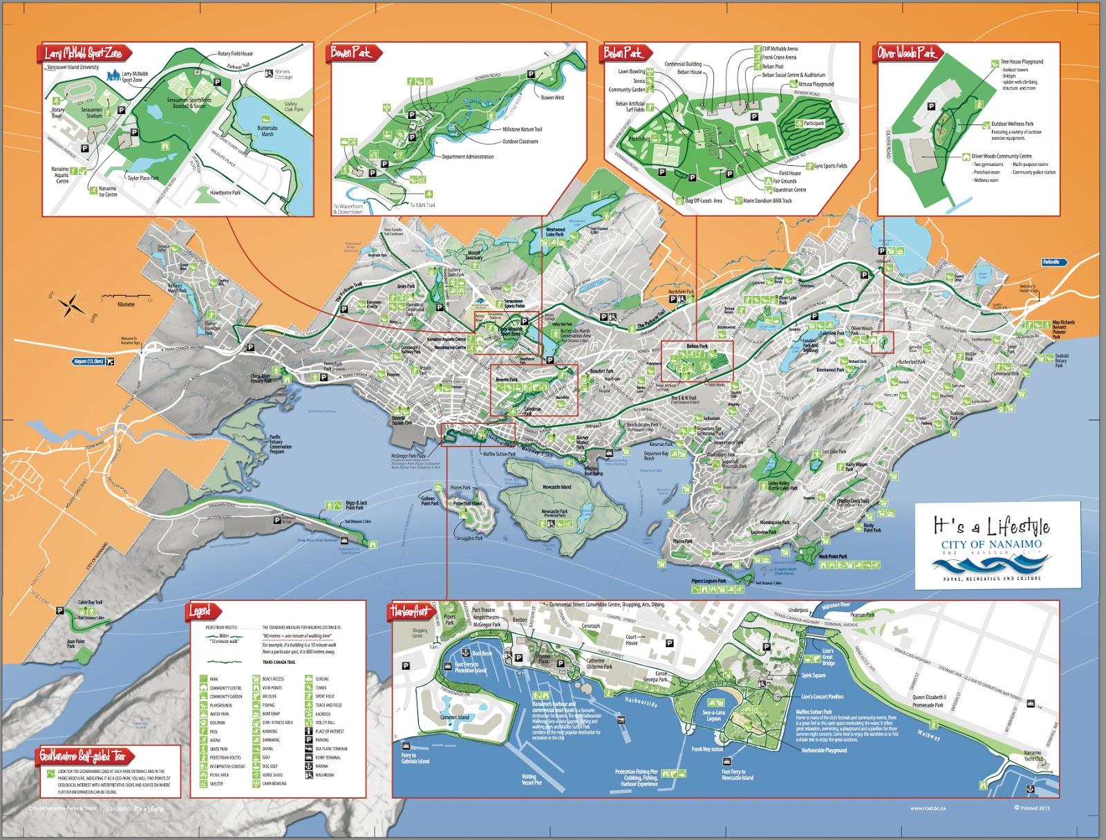 Bowen Island Cycling Map