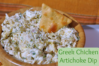 Greek Chicken Artichoke Dip