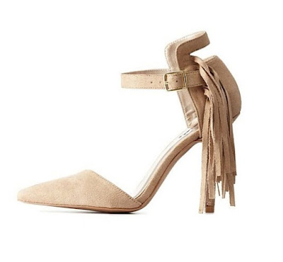 Qupid Nude Shoes with fringe