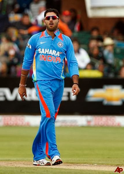 yuvraj singh photo - yuvraj walking on ground during match