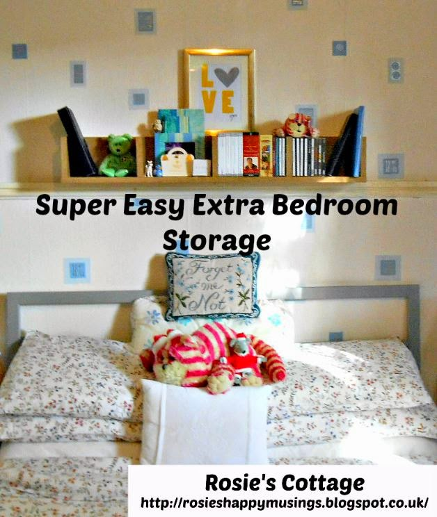 Super Easy Extra Storage For The Bedroom