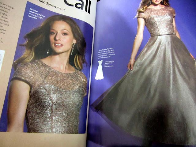 Revista con consejos de costura, tipos de telas