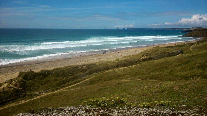 La plage de l'Aber