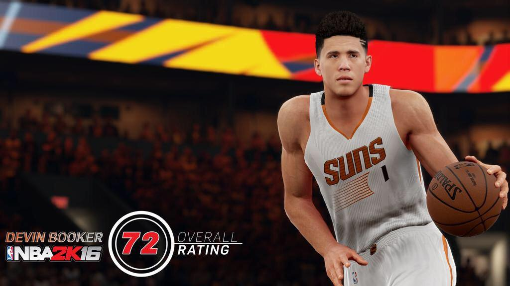 NBA 2k16 Devin Booker Rating