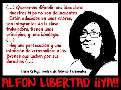 La represión del Estado y el fascismo responden a los mismos intereses Elena+madre+alfon