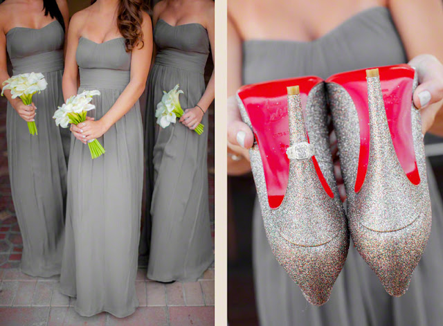 Christian Louboutin wedding heels, wedding shoes, cute bridesmaids photos, florida destination weddings