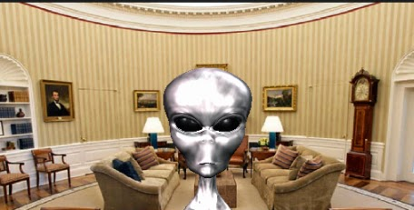 alien in white house