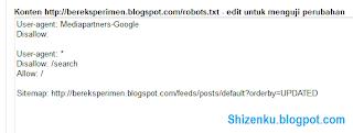 setting file robots txt default
