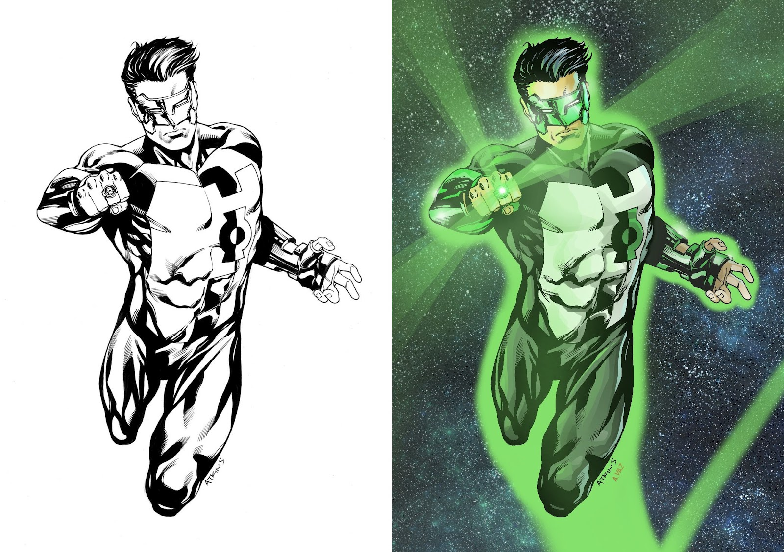 Andre's Blog: Green Lantern - Dessin: Robert Atkins ...