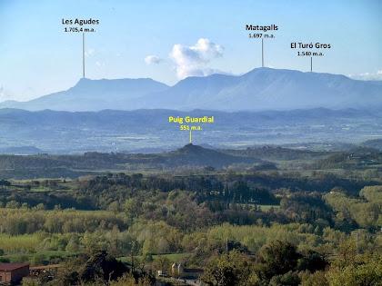 La Plana de Vic i el Montseny des de la drecera del Collet de Bellforn
