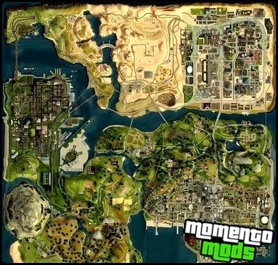 GTA SA - Mapa Em 3D