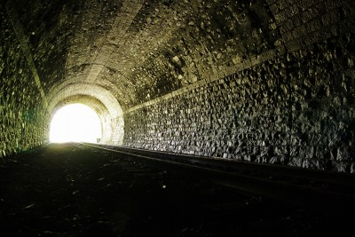 Picture of a dark tunnel