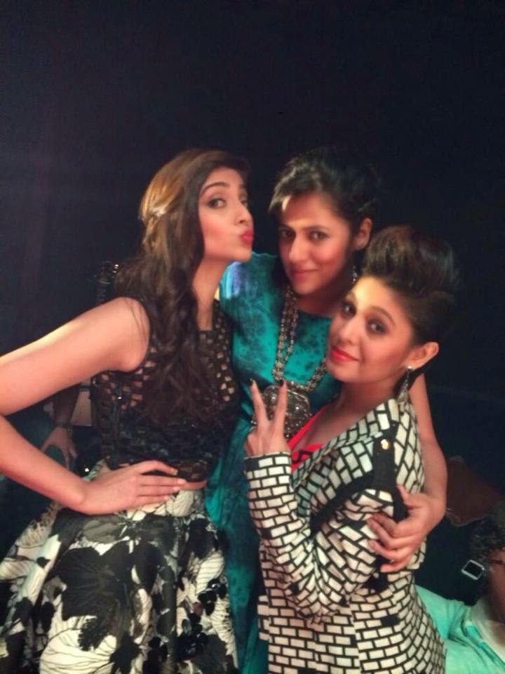 Sonam, Sunidhi & Music Director  at Khoobsurat audio launch