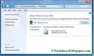 Hướng dẫn Sao lưu dữ liệu tự động trong Windows 8