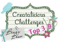 Creatalicious Challenge top 3