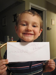 Sean & his letter to the easter bunny