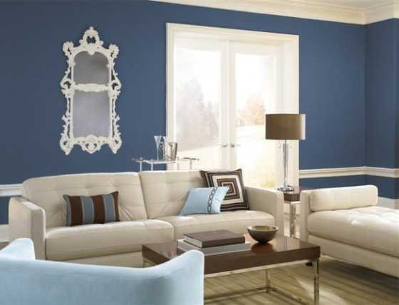 Different wall finishes for the interior design of your for Behr interior paint colors