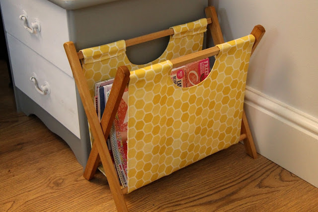 honeycomb diy magazine rack