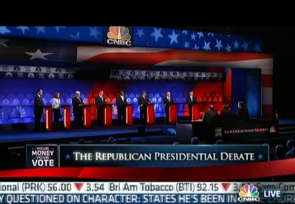 CBS News-National Journal Republican presidential debate 11/12/11