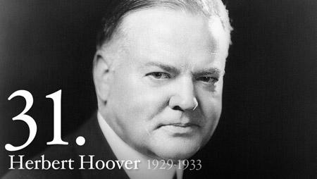 HERBERT HOOVER 1929-1933