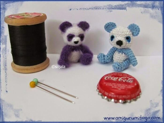 Miniature Blue Panda ~ Amigurumi To Go