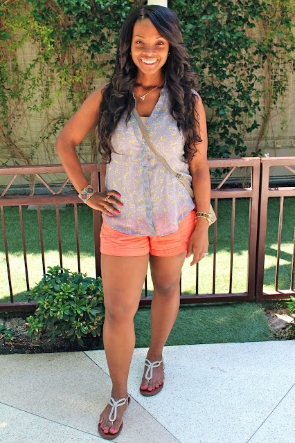 Orange Shorts ~ Vegas Look #1