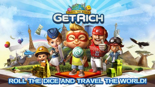 Download LINE Let's Get Rich v1.06 Mod Unlimited Coins Diamond 2015