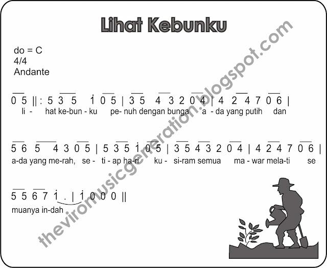 The Viro: Notasi Angka Lihat Kebunku ( Lagu Anak-Anak)