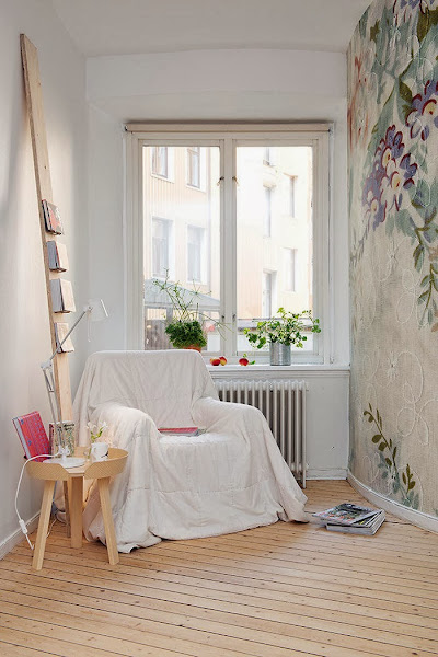 Papel pintado flores decorar tu casa es for Casas de papel pintado