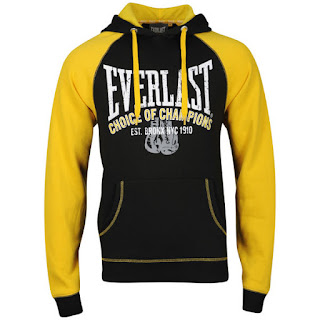 Everlast Mens Brushback Sweatshirt - Black/Yellow