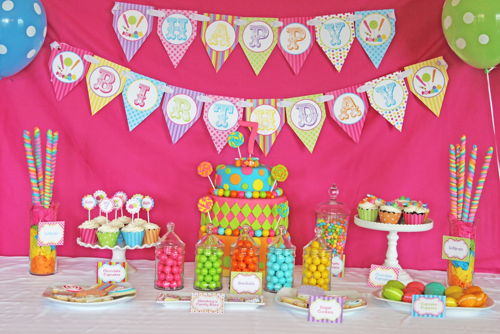 Halle's 7th Candy Shoppe Birthday Party