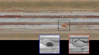 gambar permukaan planet jupiter