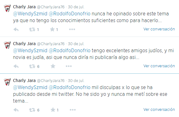 Carlos Jara, tweets antisemitas, twitter, River, River Plate, Israel, Palestina,