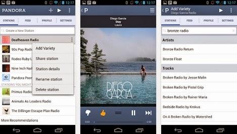 mendengarkan radio online dengan pandora for android