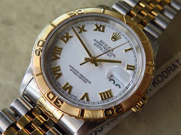 ROLEX TURN O GRAPH WHITE ROMAN DIAL GOLD BEZEL TWO TONE - THUNDERBIRD -ROLEX 16263 WHITE ROMAN DIAL