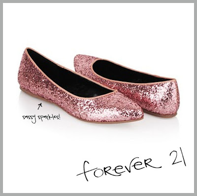 Glitter Pointed Toe Ballet Flats from Forever 21