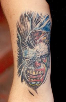 fotos e imagens de desenhos de tattoo de palhaços