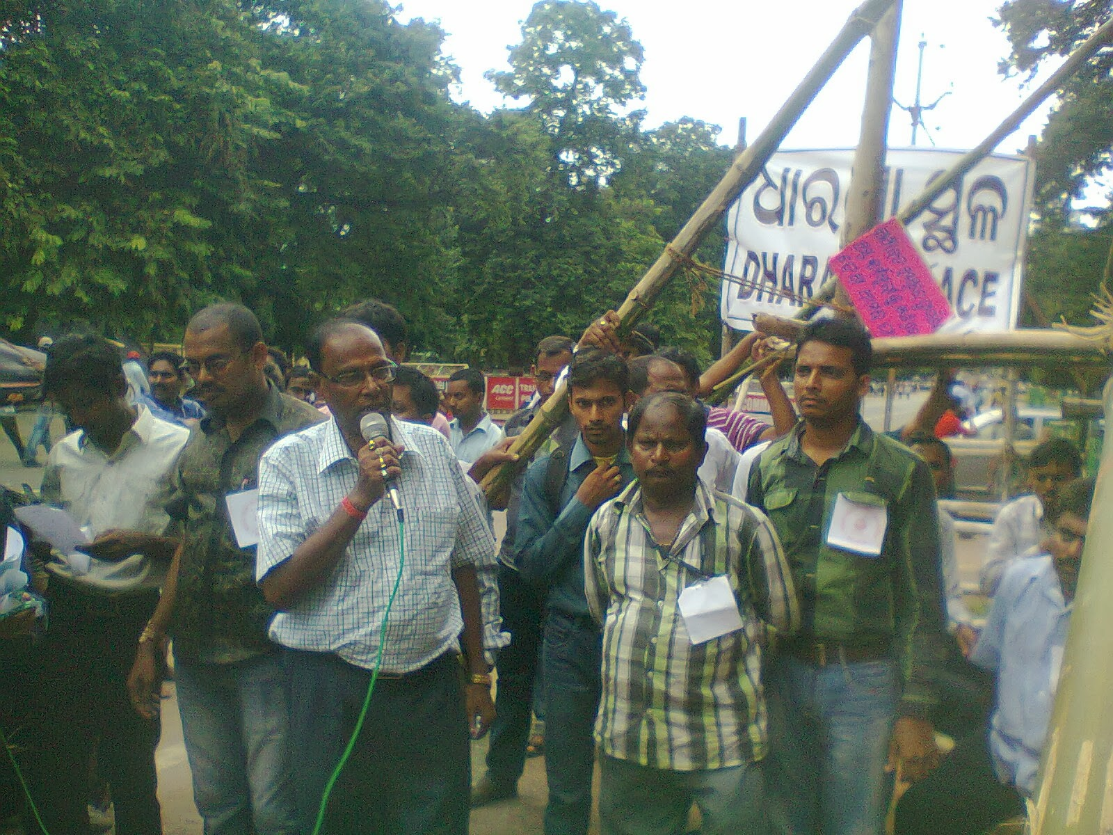 Nesco employees hold rally,Dharana