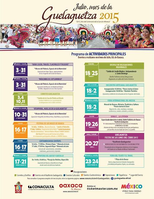 guelaguetza 2015 actividades programa
