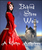 Scarlet behind stone walls