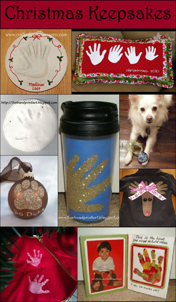 Christmas Handprint Keepsakes, DIY Christmas Gift Ideas