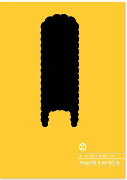 Penteados com copyright - Marge Simpson