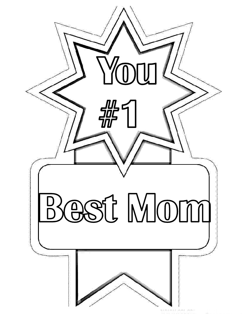 Coloring sheets for mothers day - Mothers Day Coloring Pages For Preschool