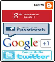 Gabungan Widget Like Facebook, Follow Twitter, dan Google+ untuk Blog